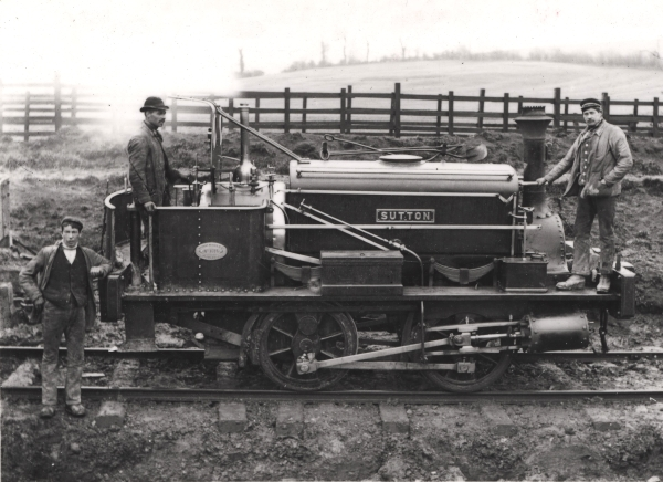 One of the numerous four-coupled saddletank locomotives used by the contractors was SUTTON, a Manning Wardle 'C' class (No. 1016) of 1887. The engine is seen at Catesby in the employment of T. Oliver & Son, having previously worked on the Manchester Ship Canal construction.