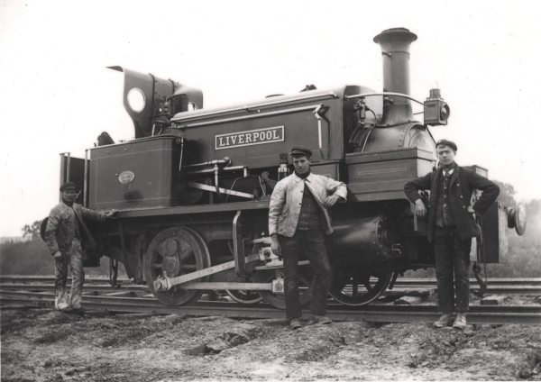 Contractors' 0-4-0 saddletank locomotive, LIVERPOOL.