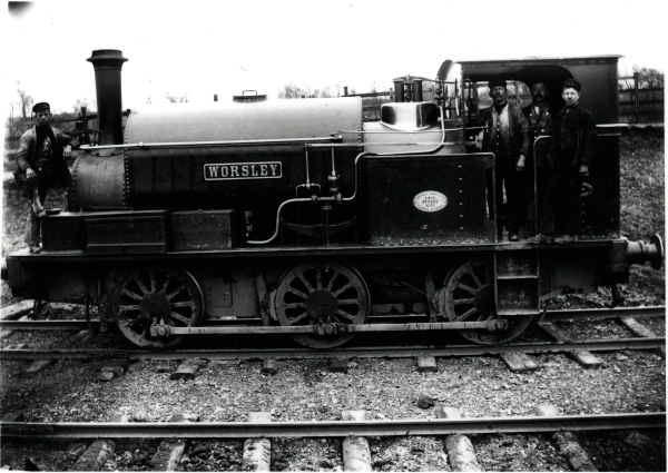 Another locomotive from the Manchester Ship Canal construction project is WORSLEY; a Hudswell Clarke 0-6-0 saddletank, No. 325, of 1889. It is seen at Shawell in Leicestershire in the ownership of Topham, Jones & Railton, having previously worked for T. A. Walker of Ellesmere Port.