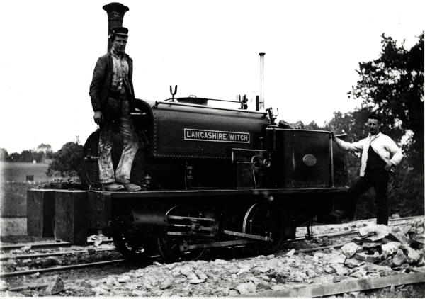 The only narrow gauge locomotive used on the Great Central contracts was LANCASHIRE WITCH - a Manning Wardle 'C' class 0-4-0 saddletank (No. 614) of 1876. The gauge was 3' 0' instead of the standard gauge of 4' 8'' and the locomotive was used exclusively in the Brackley area.