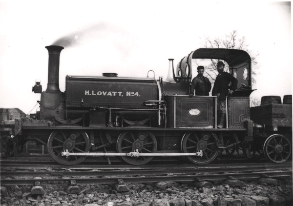 H. LOVATT No. 4 - a Manning Wardle 'K' class 0-6-0 saddle tank (No. 533) of 1875. It was originally owned by J. Bayliss & Son of Hull where is carried the name GODFREY for many years.