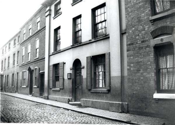 The site office for the construction of Contract No. 2 (East Leake to Aylestone) was this building on Talbot Lane in Leicester, close to the site of Leicester Central. It was here that George Chalcraft would have had his office and where he would have overseen the work of Henry Lovatt's navvies.