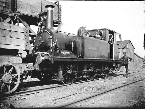 BISHOPSGATE - one of the four Stroudley 'Terriers' purchased to work on the Northolt to High Wycombe contract by Pauling & Co. in 1902. The locomotive still retains its LBSCR livery but, as can be seen here, has had dumb buffers and wheel washing equipment fitted.