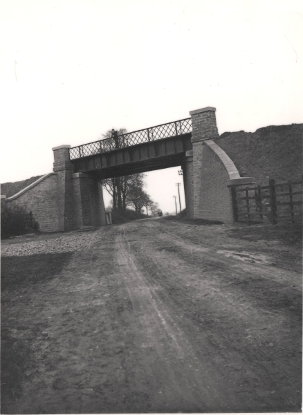 Girder underbridge carrying the London Extension over a road between Cosby and Whetstone, Leicestershire, circa 1897