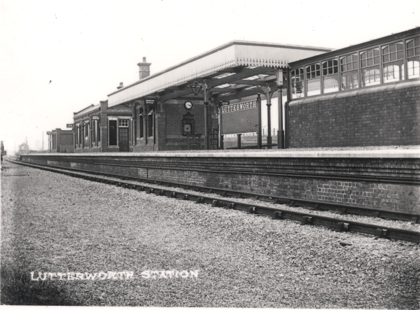 The newly completed Great Central Railway station at Lutterworth, Leicestershire, circa 1899.