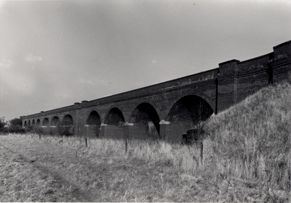 Photographed looking north in December 1977, this is bridge 318, the 176 yard (161 metre) viaduct that carried the London Extension across the River Soar.