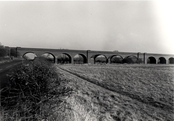 A 176 yard (161 metre) brick arch viaduct on the northern outskirts of Loughborough that carried the London Extension across the River Soar
