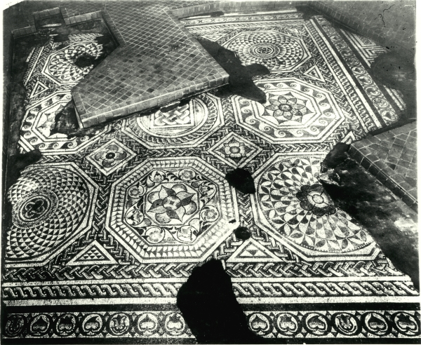 The Blackfriars tessellated Roman pavement is believed to have been constructed around 150 AD. It remained hidden until 1832 when it was uncovered in the basement of a house at 53 Jewry Wall Street.