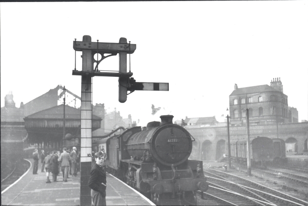 On 24th April 1957, Ian Allen Publishing ran a 'Trains Illustrated' special from Paddington to Doncaster, returning over the London Extension to Marylebone. The locomotive shown at Nottingham Victoria Station is a Thompson B1 class 4-6-0 - 61272.