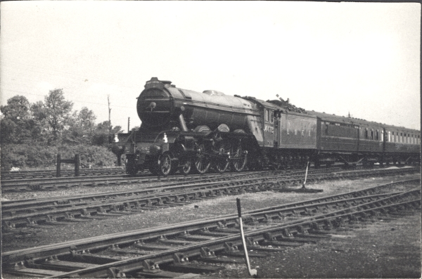 On 15 June, 1963, a rail tour was run over the London Extension, hauled by the world famous locomotive, No. 4472 - FLYING SCOTSMAN.